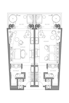 344 sq. ft. Hyatt Hotel suite layout that would work for a
