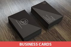 Minimal Grey Split Business Card by Brandi Lea Designs on Creative Market