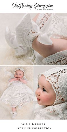22 ideas for knitting dress kids christening gowns Girls Christening Dress, Christening Photos, Baby Girl Christening, Baby Girl Dress Patterns, Baby Girl Dresses, Girls Belle Dress, Baptisms, Baby Blessing Dress, Baby Gown