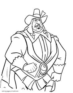 Disney Villains Coloring Pages Disney coloring pages 261