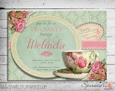 Free Printable Vintage Tea Party Invitations