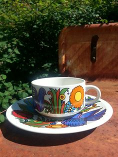 Retro 60s Villeroy and Boch Acapulco coffee cup by fcollectables, €17.50