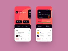 Banking app designed by Artem. Connect with them on Dribbble; Ui Design Mobile, App Ui Design, Dashboard Design, Interface Design, Design Design, Branding Design, App Design Inspiration, Affinity Designer, Music App