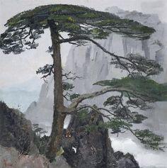 Wu Guanzhong, THE WELCOMING PINES