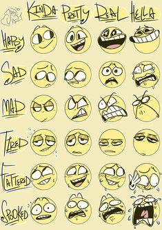 Trendy Drawing Cartoon Faces Facial Expressions Art Trendy Drawing Cartoon Faces Facial ExpYou can find Cartoo. Facial Expressions Drawing, Cartoon Expression, Drawing Cartoon Faces, Expression Sheet, Draw Faces, Cartoon Faces Expressions, Happy Face Drawing, Cute Cartoon Faces, Smile Drawing