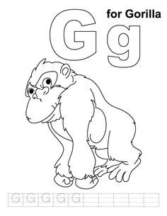 A for alligator coloring page with handwriting practice   Coloring ...