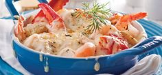 Gratin de Fruits de Mer et Pommes de Terre Grelots Potato Salad, Shrimp, Seafood, Potatoes, Fish, Meat, Ethnic Recipes, English Recipes, Popular Recipes