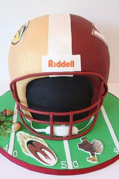 3D Grooms Cakes New Jersey - Football Helmet Custom Cakes