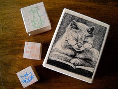 #Cat #Cats Themed #RubberStamps #EmbossingStamp Lot