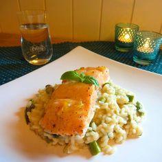 Edel's Mat & Vin : Sennepslaks med aspargesrisotto !