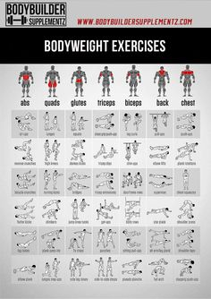 Bodyweight Exercises- Full Body Workouts