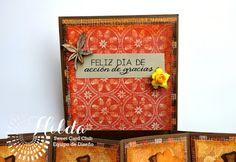 Hilda Designs: Reto Octubre en SCC: Combo Color y Calabazas Latina Crafter
