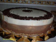 Tarta de 3 chocolates sin horno