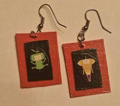 Check out this item in my Etsy shop https://www.etsy.com/listing/262270854/katamari-dark-orange-collage-earrings