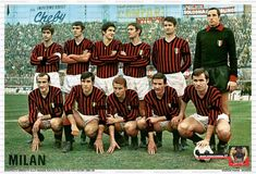 AC Milan (1968/69) Retro Football, Football Shirts, Ac Milan, Leather Bag, Baseball Cards, Movies, Movie Posters, Football Jerseys, Films