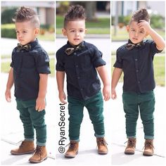 [TOTS : Little boy swag.]