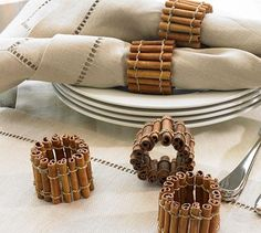 Cinnamon stick napkin rings