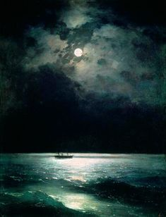 Ivan Aivazovsky - The Black Sea at Night (1879)
