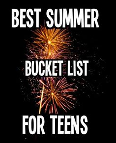 Best Summer Bucket List for Teens ( I think people need to know what a bucket list is.I hope teens don't need a bucket list! Summer Bucket List For Teens, Summer Of Love, Summer Fun, Summer Time, Summer Ideas, Fun Ideas, Teen Summer, Summer 2014, Best Friend Bucket List