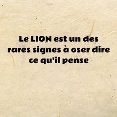 Le #LION est un des rares signes à oser dire ce qu'il pense  #horoscope #astrologie