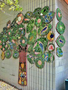 Trees & Flowers (1980) Lilli Ann Rosenberg, Miller's River Housing - DiscoverEastCambridge.com #CambMA #CambridgeMA #EastCambridge
