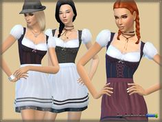The dress is designed for women from teenager to adult. New mesh my 4 coloring…