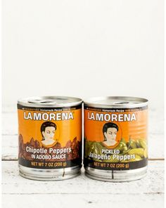 LA MORENA PEPPERS. La Morena had the whole pepper thing figured out over 30 years ago. They aren't flashy, and they don't have a gimmick, because they don't need to. Keep a tin in your pantry at all times. Choose either Pickled Jalepenos or Chipotle Peppers. $10.00