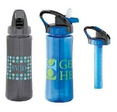 22 Oz. Cool Gear Chiller Stick Sport Bottle. Cool Gear Chiller bottle keeps your cold drinks cold. Safe gel filled freezer stick keeps drinks cold. Flip up cap with bite valve. Carabiner handle for easy carrying. Large opening for easy cleaning and filling. BPA free.  #tradeshow giveaways #tradeshow swag