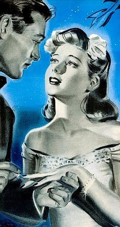 retro, vintage, and love image Romance Art, Vintage Romance, Vintage Love, Vintage Ads, Vintage Images, Vintage Posters, Wedding Vintage, Romantic Artwork, Pop Art