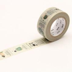 mt Masking Tape ex【Tea Ceremony - Qmono - Washi Tapes Washi Tapes, Masking Tape, Paper Tape, Tea Ceremony, Fuzz, Art Supplies, Stationary, Embellishments, Typography