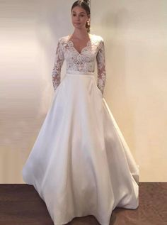 A Line Wedding Dresses With Sleeves Romantic - 6 Recommended A-Line Wedding Dresses for Your Special Day   #wedding #weddingplan #weddingstuff #weddingdressesing #dreamweddingideas