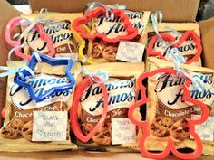 Party favors for Logan's Milk & Cookies 1st Birthday Party!