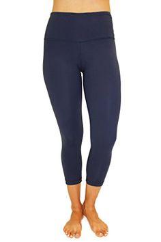 38466108c7 90 Degree By Reflex – High Waist Tummy Control Shapewear – Power Flex Capri  Legging –