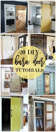 Sliding barn doors are a fun decorating trend that go beyond the farmhouse! Let's explore 20 DIY Barn Door Tutorials including installation instructions and
