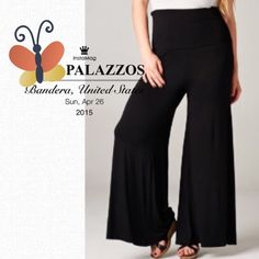 """HP 4/22EVERYBODY NEEDS BLACK PALAZZOS! R E S T O C K E D! I ordered a bunch of these because they are a fashion staple! Black goes with everything and these will slim your bottom torso for a more put together look.  Polyester/nylon/spandex blend. Made in USA NWOTPLEASE DO NOT BUY THIS LISTING, I will personalize one for you. ♦️LARGE: waist 30-40"""" high hips 40-50"""" seat 50-60"""" inseam 32.5"""" tla2 Pants"""