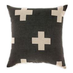 Crosses Cushion in Smoke  by aurahome