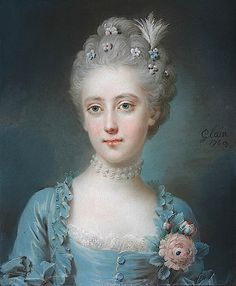Viscountess Grimston, née Harriot Walter by Leon Pascal Glain, 1769.