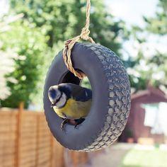 Tyre Swing Bird Feeder At Firebox.com