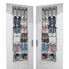 22 Pockets Over Door Hanging Shoe Organiser Organizer Storage Rack Hanger Holder