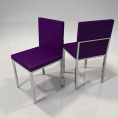 sillas en color violeta, ideales para cocina y comedor modelo ole
