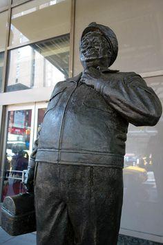 Ralph Kramden Statue at New York City's Port Authority Bus Terminal