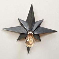 Vintage Star Flush Mount Ceiling Light - 3 finishes