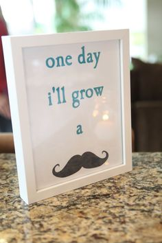 "Little Man Baby Shower Ideas | Little man"" baby shower- decor MAYBE HAVE MUSTACHE ... 