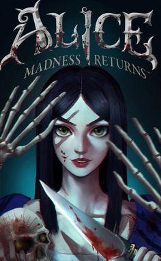A l i c e madness returns Alice Liddell, Evil Disney, Dark Disney, Alice Madness Returns, Dark Alice In Wonderland, Gothic Fantasy Art, Were All Mad Here, Arte Horror, Creepy Art