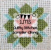 Little Miss Shabby Quilty Stitches Block 1-7.  There will be 16.  Search for others under Quilty stitch block #___.  June 9, 2014 they are up to 11.