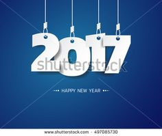 Happy new year 2017 vector background year of rooster can be use for your artwork homepage or website .