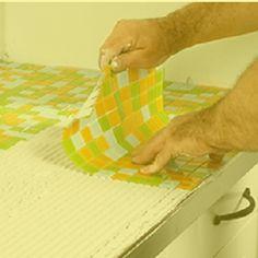 Mosaik-Fliesen als Küchen-Arbeitsplatte
