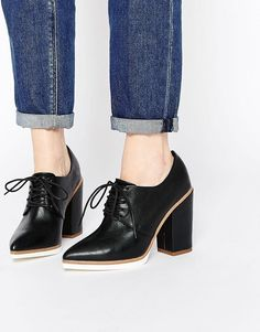 ASOS | ASOS ON A ROLL Lace Up Heeled Shoes at ASOS