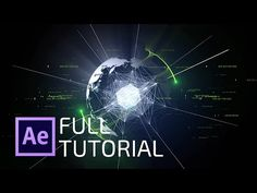 After effects tutorial: futuristic 3d globe from 2d image - YouTube