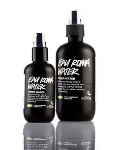 Eau Roma Water (Toner): Dieser Toner besteht hauptsächlich aus zartem Lavendel- und Rosenwasser und optimal für sensible, reifere oder trockene Haut.